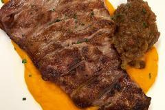 Restaurante-La-Pubilla-Esplugues-De-Llobregat-Secreto-Cerdo-Ibérico-Pure-Zanahoria-Chutney-Manzana